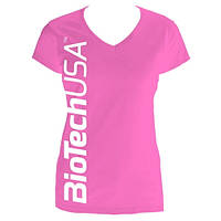 Одежда Футболка женская  BioTech, розовая S