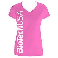 Одежда Футболка женская  BioTech, розовая M