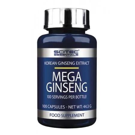 Натуральная добавка Scitec Mega Ginseng, 100 капсул