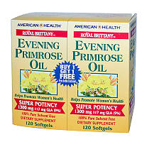 Натуральная добавка American Health Royal Brittany Evening Primrose Oil, 240 капсул