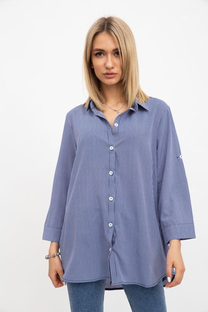 Рубашка женская 115R2901-3 цвет Сине-белый