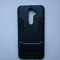 Противоударный чехол Armor для Xiaomi Redmi Note 8 Pro Black (мужской чехол на Сяоми Редми Нот 8 Про Черный)