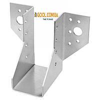 Держатель балки 51х165мм опора для бруса перфорированный металлический оцинкованный упаковка 30 штук