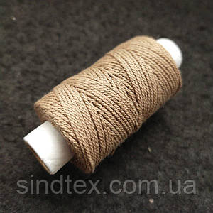 Универсальные бежевые нитки для кожи обуви и декоративных швов, 300текс 100% полиэстер 25м (РАВ-1000)