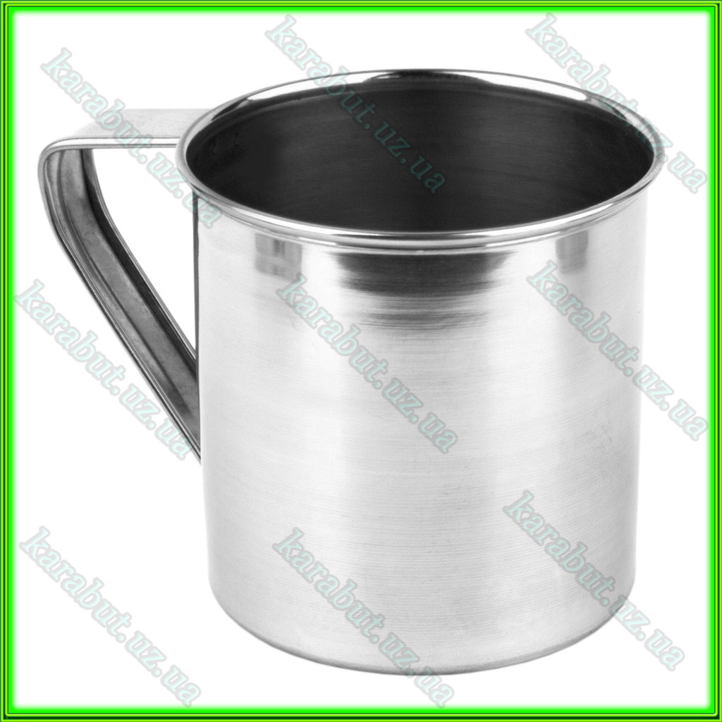 Кружка из нержавеющей стали №10_V0,500л.(D10см H10см)