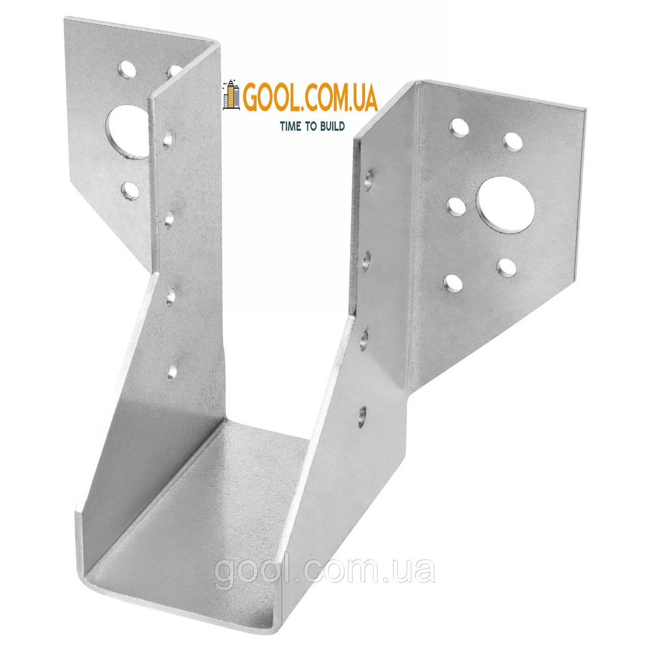 Держатель балки 76х123мм опора для бруса перфорированный металлический оцинкованный упаковка 30 штук