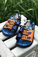 Босоножки детские силиконовые мальчик темно-синие А1078-2