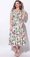 Платье LeNata-11115 белорусский трикотаж, фруктовый сад, 44, фото 1
