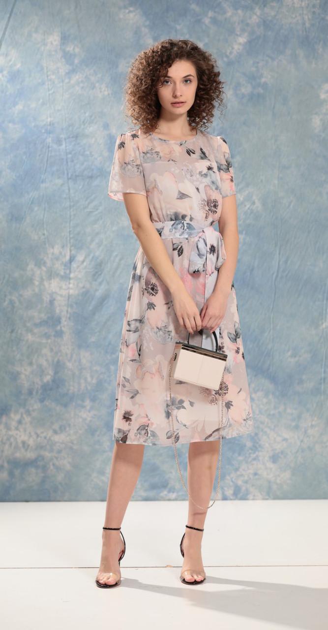 Платье Buter-2039 белорусский трикотаж, пудра, 50