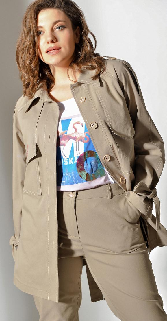 Куртка Anna Majewska-A-219 B белорусский трикотаж, беж, 50