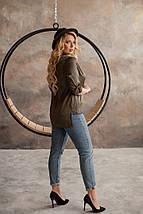 """Шелковая женская блуза-рубашка """"MUSCAT"""" с длинным рукавом (большие размеры), фото 2"""
