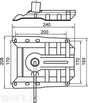 Механізм пиастра для офісного крісла (метал 2,5 мм.) 2 сорт, фото 2