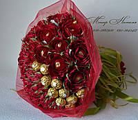Креативні букети з квітів і цукерок з доставкою по Харкову