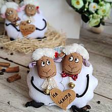 "Игрушка Парочка овечки ""На счастье""14*15см (ручная работа)135/95 (цена за 1 шт.+40 грн)"