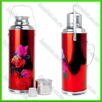 Термос с стекляной колбой 2 литра, фото 2