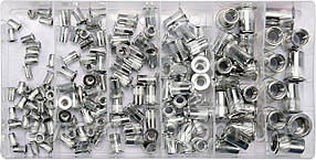 Заклепки резьбовые алюмінієві з різними розмірами М3- М10, 150 шт. в футлярі, YT-36460 YATO