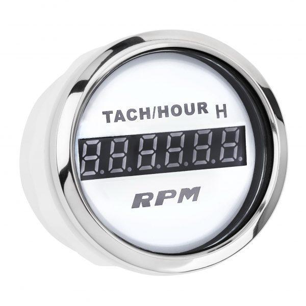 Цифровий Тахометр з лічильником мотогодин I GAUGE 52MM (білий) LED дисплей