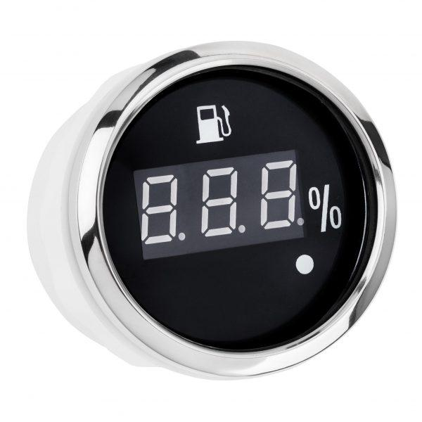 Датчик палива цифровий I GAUGE 52MM з функцією попередження (чорний) LED дисплей 240~33 OHM