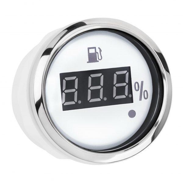 Датчик топлива цифровой I GAUGE 52MM с функцией предупреждения (белый) LED дисплей 240~33 OHM