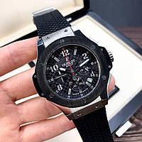 Часы Hublot Big Bang Chronograph Ceramica Black-Silver-Black / Хаблот / Хублот