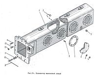 Коллектор выхлопной левый Д100.18.104сб-1