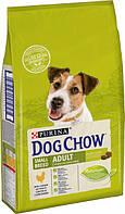 Сухой корм для взрослых собак мелких пород старше 1 года Dog Chow Adult Small Breed с курицей 7.5 кг
