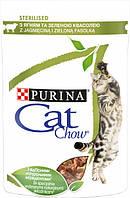 Влажный корм для кошек Purina Cat Chow для взрослых стерилизованых кошек с ягненком и зеленой фасолью 85 г
