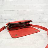 Сумка gs 950 красная из натуральной кожи crazy horse, фото 2