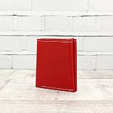 Портмоне kuc красный из натуральной кожи kapri, фото 2