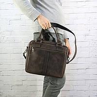 Портфель Mihey sv a4 коричневый из натуральной кожи crazy horse 1420602, фото 1