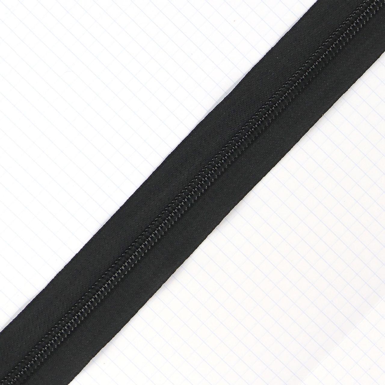 Молния спиральная тип 5 чёрная для сумок a1115 (20 м.)