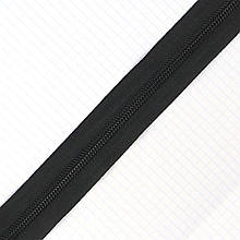 Молния спиральная рулонка чёрная Т.5 зуб для сумок a1115 (50 м.)
