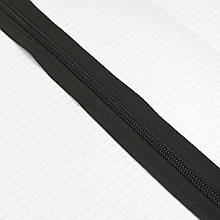 Молния спиральная рулонка чёрная Т.8 зуб для сумок a1135 (40 м.)