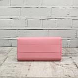 Кошелёк america розовый из натуральной кожи kapri, фото 3