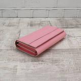 Кошелёк america розовый из натуральной кожи kapri, фото 5
