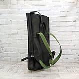 Рюкзак roll чёрный из натуральной кожи crazy horse, фото 7