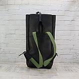 Рюкзак roll чёрный из натуральной кожи crazy horse, фото 8