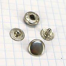 Кнопка альфа 10 мм никель Китай a4201 (360 шт.)