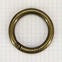 Кольцо карабин 39*6,5 мм антик для сумок t5198 (4 шт.)