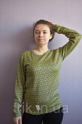 Джемпер подростковый оливковый с орнаментом, фото 2