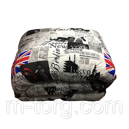 Одеяло полуторное 150/220 шерсть овечья натуральная, ткань хлопок, фото 2