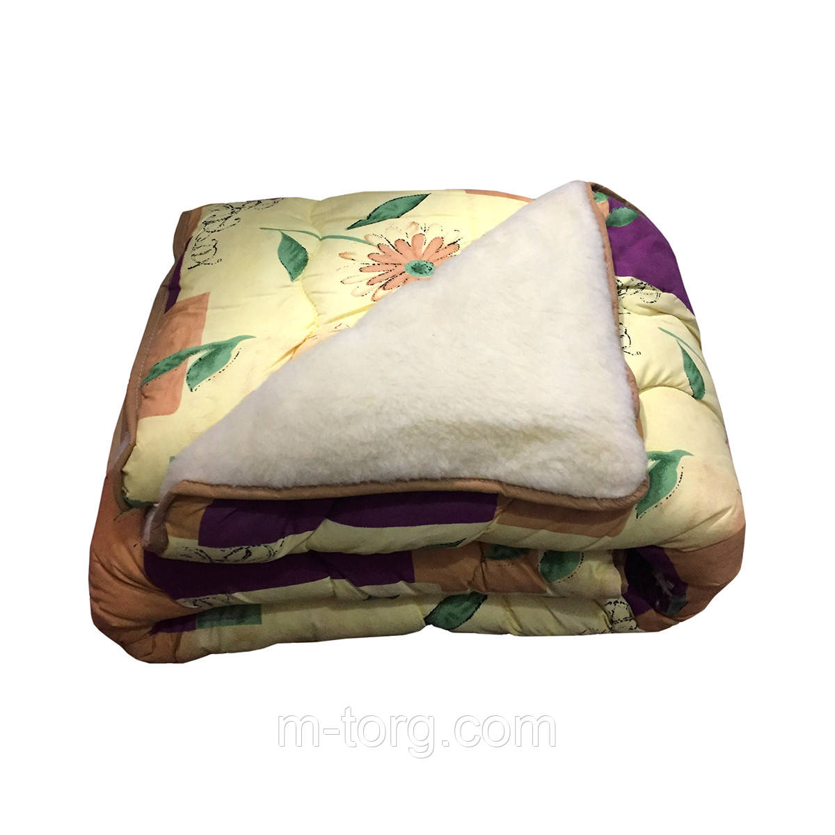 Одеяло овечья шерсть полуторное 145/215,ткань поликотон