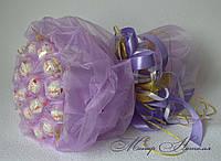 Букет з цукерок Рафаелло органзовый