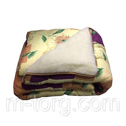 Одеяло полушерсть двуспальное 175/215,ткань поликотон, фото 2