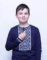 Вышиванка для мальчика 91-0573 София темно- синий