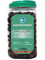 Оливки чорні (маслини) в'ялені з кісточкою 1400 р Marmarabirlik 2XS (Туреччина)