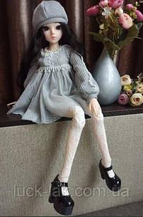 Шарнірна лялька bjd автора ріст 60 см ,1 /3, чорний колір волосся + одяг і взуття в подарунок