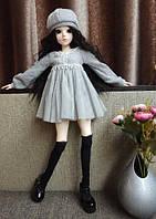 Шарнирная кукла BJD рост 60 см ,1 /3, черный цвет волос + одежда и обувь в подарок