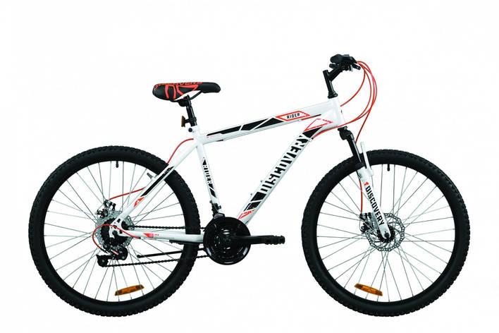 """Велосипед горный 26"""" Discovery Rider AM DD 2020 бело-красный с серым, 13"""", фото 2"""