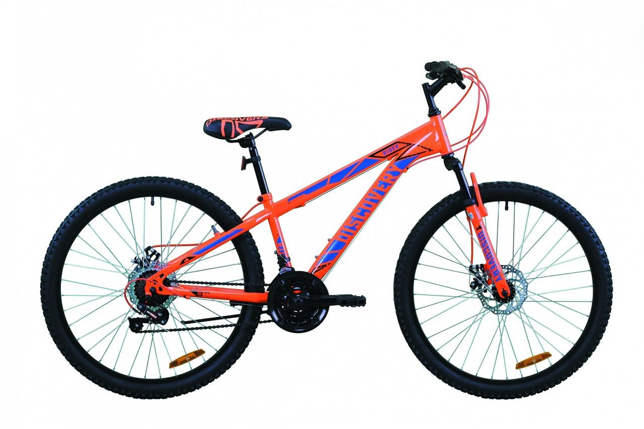 """Велосипед гірський 26"""" Discovery Rider AM DD 2020 червоно-оранжевий з синім, 18"""""""